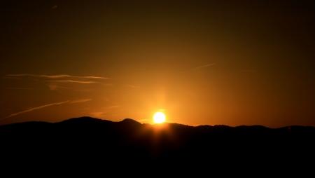 liptov: Sunset at region Liptov in Slovakia Stock Photo