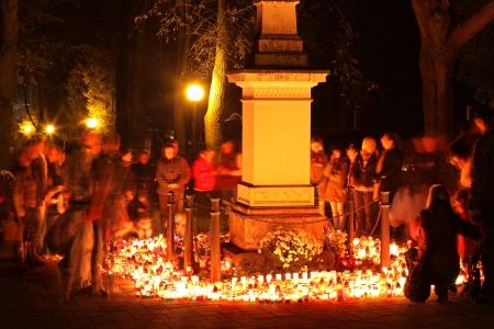 ruzomberok: RUZOMBEROK, SLOVAKIA - NOVEMBER 1  Souls day at cemetery in town Ruzomberok on November 1, 2013 in Ruzomberok  Editorial