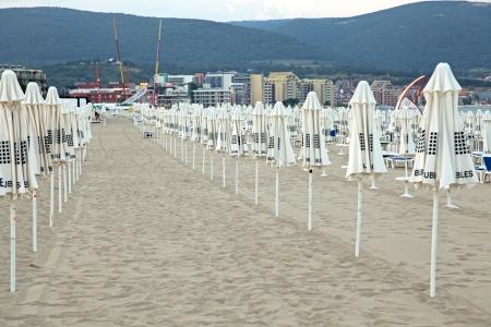sunshades: Sunshades at Sunny beach, Bulgaria