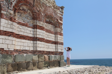 bulgaria girl: Pretty girl in Nesebar, Bulgaria