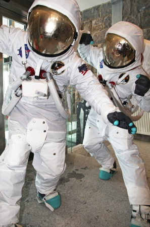 restauration: Astronauts in the restaurant in hill CHopok, SLovakia