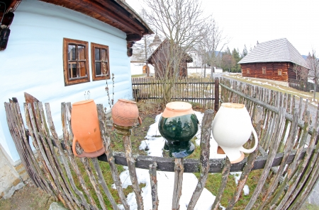 liptov: Pribylina - open air museum at region Liptov, Slovakia Stock Photo