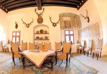 PRIBYLINA, SLOVAKIA - JANUARY 4  Interior of typical Slovakian manor-house at Pribylina on January 4, 2014 in Pribylina Stock Photo - 24924428
