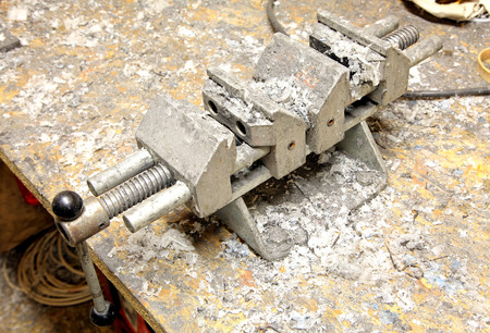 Jaw vice in the workshop photo