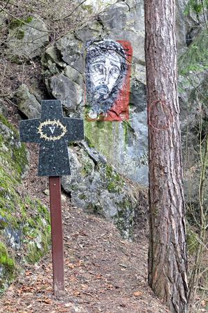 sacramentale: Calvario vicino al villaggio Liskova, Slovacchia