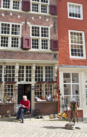 delft: Typical Delft architecture in Netherlands Editorial