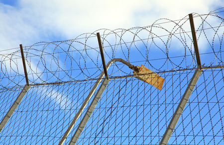 ruzomberok: Prison fence at town Ruzomberok, Slovakia