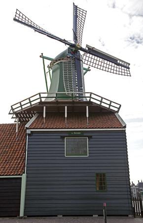 zaanse: Windmills in Zaanse Schans museum, Netherlands Stockfoto