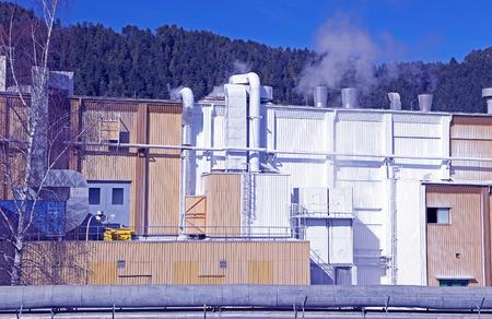 ruzomberok: Factory Mondi in city Ruzomberok, Slovakia
