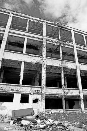 ruzomberok: Old ruined factory at town Ruzomberok, Slovakia
