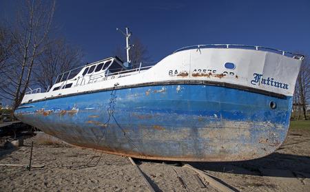 Old ship on water basin Liptovska Mara, Slovakia
