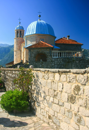 islet: Church at islet in the bay of Kotor, Montenegro