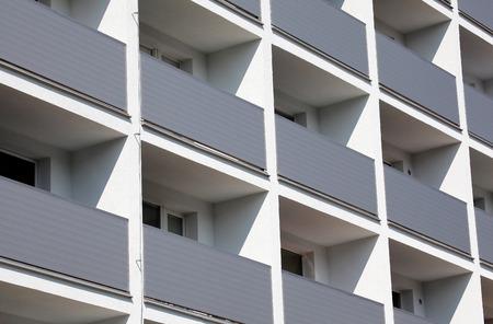 ruzomberok: Facade of a residential building, Slovakia