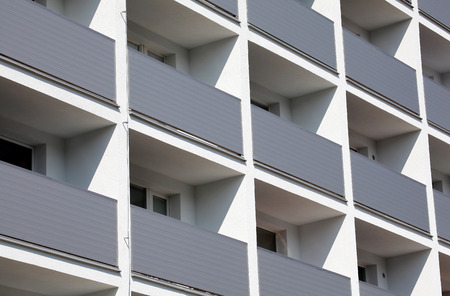 dweling: Facade of a residential building, Slovakia