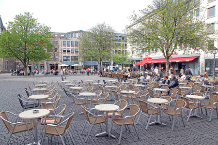 dweling: AACHEN, GERMANY - MARCH 31: Square at city Aachen on March 31, 2014 in Aachen