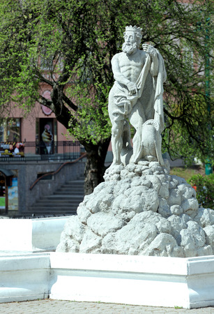 neptun: Neptun fountain at city Presov, Slovakia Stock Photo