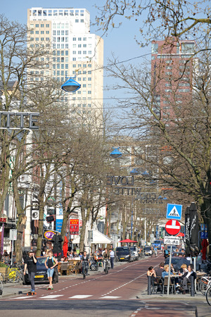restauration: ROTTERDAM, NETHERLANDS - APRIL 1: Centre of the city on April 1, 2014 in Rotterdam