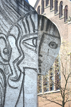 pablo picasso: ROTTERDAM, NETHERLANDS - APRIL 1: Centre of the city on April 1, 2014 in Rotterdam
