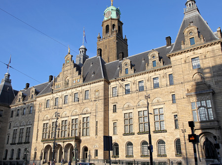 ROTTERDAM, NETHERLANDS - APRIL 1: Town hall in Rotterdam on April 1, 2014 in Rotterdam