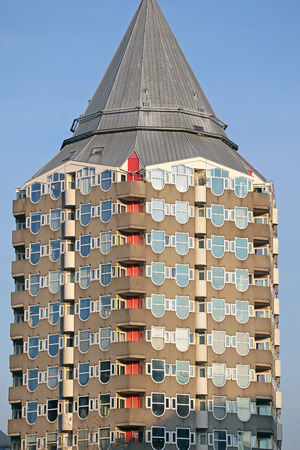 dweling: Pencil tower in Rotterdam, Netherlands Editorial