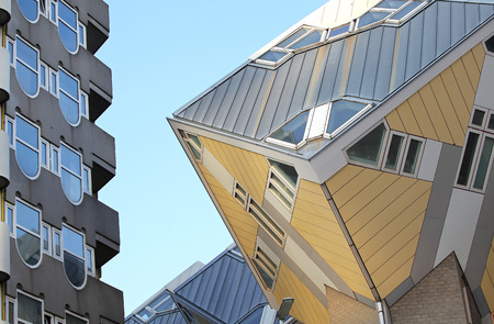 dweling: The cube houses in Rotterdam, Netherlands Editorial
