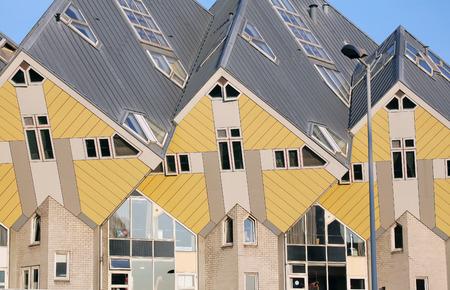 dweling: ROTTERDAM, NETHERLANDS - APRIL 1: The cube houses in Rotterdam on April 1, 2014 in Rotterdam