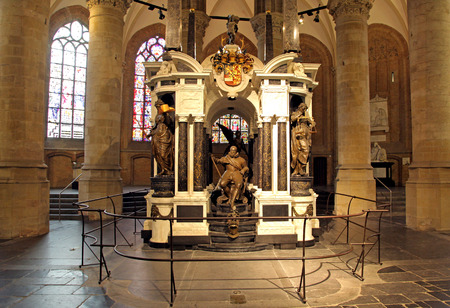 William of Orange - tomb in church at Delft - Netherlands