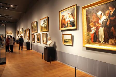 AMSTERDAM, NETHERLANDS - APRIL 3: Interior of Rijksmuseum in city Amsterdam on April 3, 2014 in Amsterdam