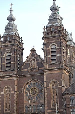 dweling: Historical church in Amsterdam - Netherlands
