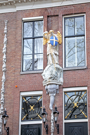 dweling: Typical architecture in city Amsterdam on April 3, 2014 in Amsterdam
