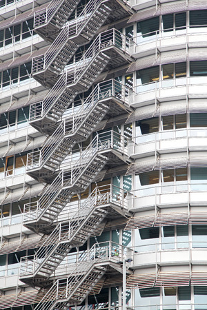 dweling: Stairs on the building in Amsterdam - Netherlands