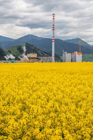 ruzomberok: RUZOMBEROK, SLOVAKIA - MAY 9: Factory Mondi in town Ruzomberok on May 9, 2014 in Ruzomberok Editorial