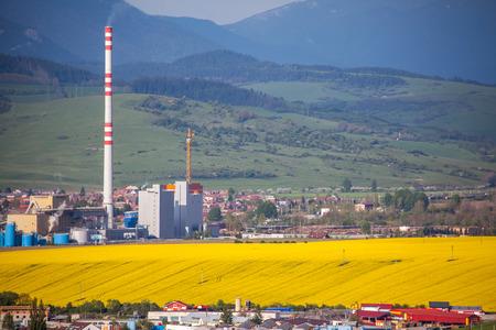 ruzomberok: RUZOMBEROK, SLOVAKIA - MAY 9: Factory Mondi in town Ruzomberok on May , 2014 in Ruzomberok
