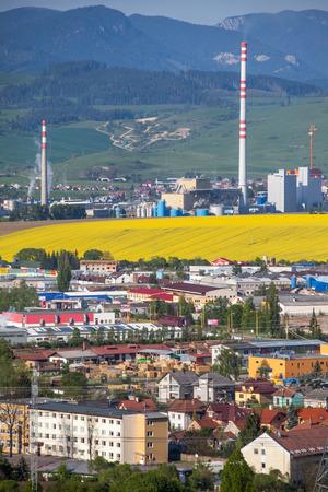 ruzomberok: RUZOMBEROK, SLOVAKIA - MAY 5: Factory Mondi in town Ruzomberok on May , 2014 in Ruzomberok