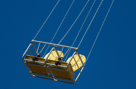 chairoplane: Detail of empty chairoplane