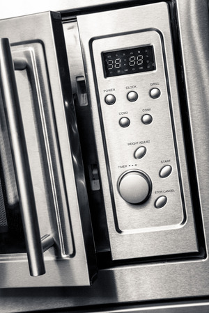 Open microwave Stock Photo