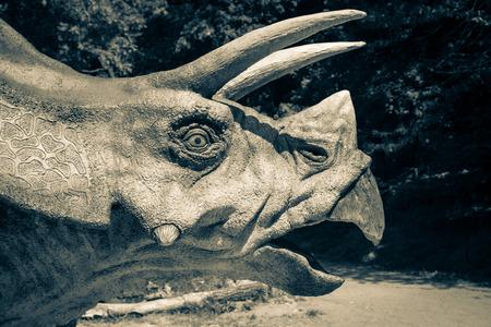 Realistic model of dinosaur Triceratops