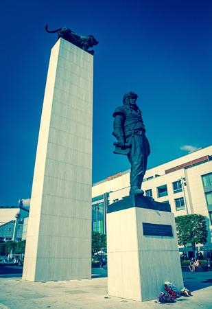 stefanik: BRATISLAVA, SLOVAKIA - JUN 28: Statue of genaral M.R. Stefanik at city Bratislava on Jun 28, 2014 in Bratislava Editorial
