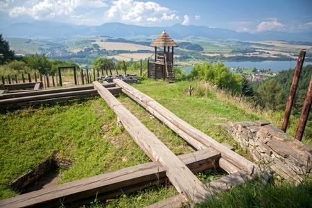 liptov: Celtic hill fort at Havranok - Slovakia
