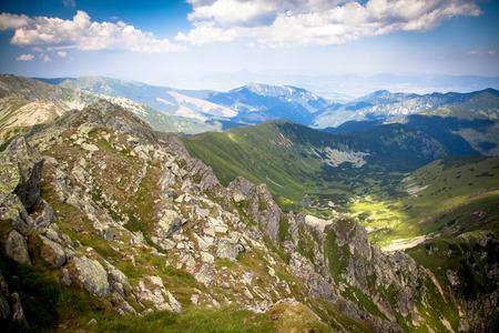 liptov: View from hill Dumbier at Low tatras mountains, Slovakia Stock Photo