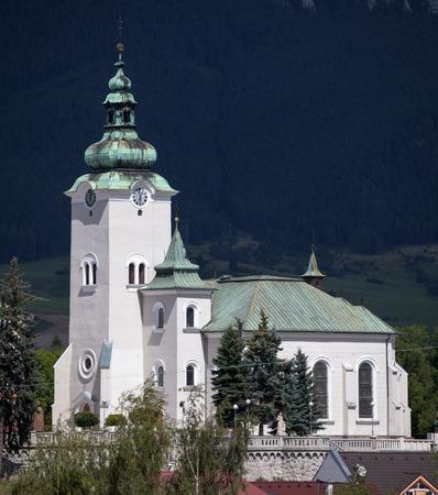 ruzomberok: Church in town Ruzomberok at Slovakia Stock Photo