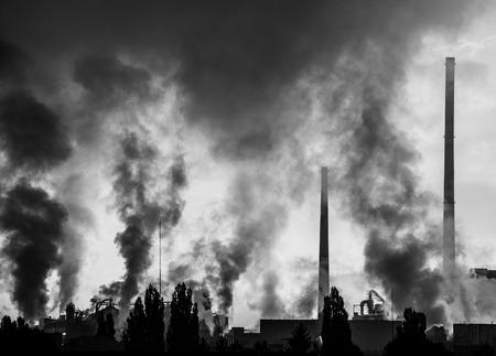 ruzomberok: Air pollution (factory Mondi in city Ruzomberok, Slovakia)