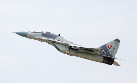 fulcrum: SLIAC, SLOVAKIA - AUGUST 30: Airplane Mig-29 Fulcrum at International air fest SIAF 2012 at airport Sliac on August 30, 2014 in Sliac Editorial