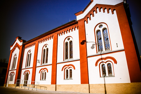 ruzomberok: Jewish Synagogue at town Ruzomberok, Slovakia Stock Photo