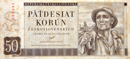 czechoslovak: Historical paper money - 50 czechoslovak crowns