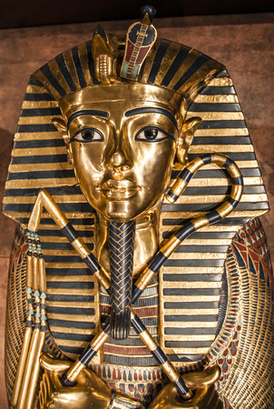 Detail of Tutankhamun's sarcophagus