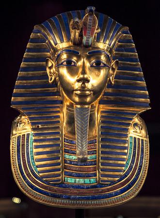 king: M�scara del entierro de Tutankam�n Editorial