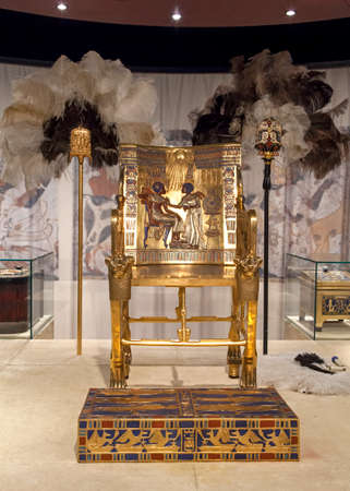 Tutankhamun's Gold Throne