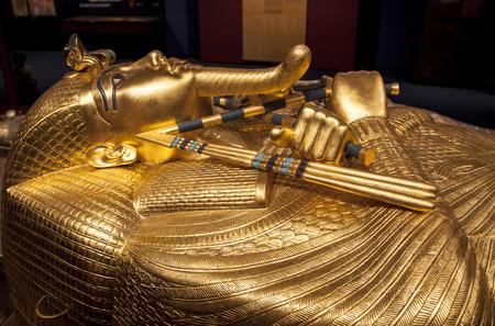 Detail van Toetanchamon's sarcofaag