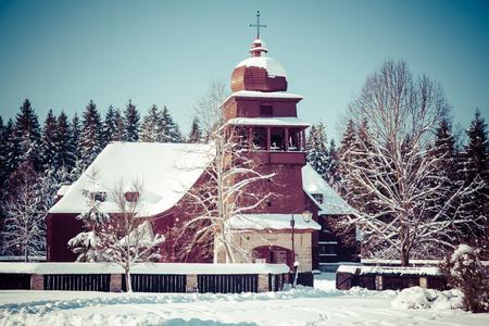 buiding: Wooden Church at Sv.Kriz, Slovakia